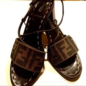 Vintage 90's Authentic FENDI Strappy Shoes ITALY